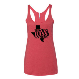 Vintage Red, Women's Racerback Tank, Texas Bass Angler