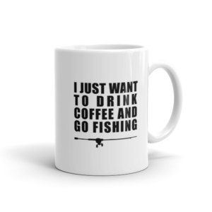 Drink Coffee Go Fishing Mug 11oz - Texas Bass Angler