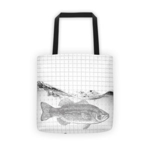 big bass tote bag
