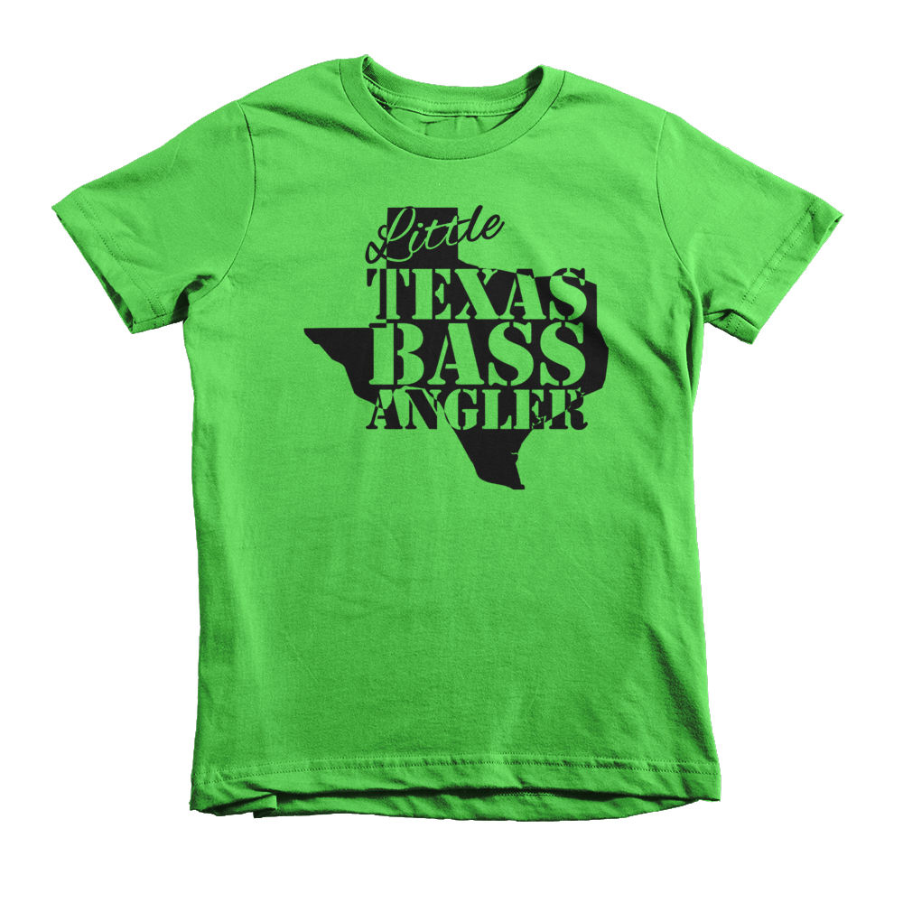 Little texas bass angler shirt for Youth fishing tournaments near me