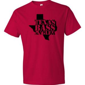 Red, Texas Bass Angler Men's Tee