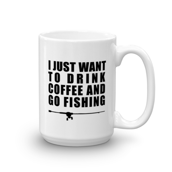 Drink Coffee Go Fishing Mug 15oz - Texas Bass Angler