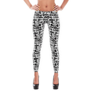 fish print leggings