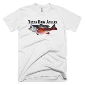 White - Texas Bass Angler Throwback Tee