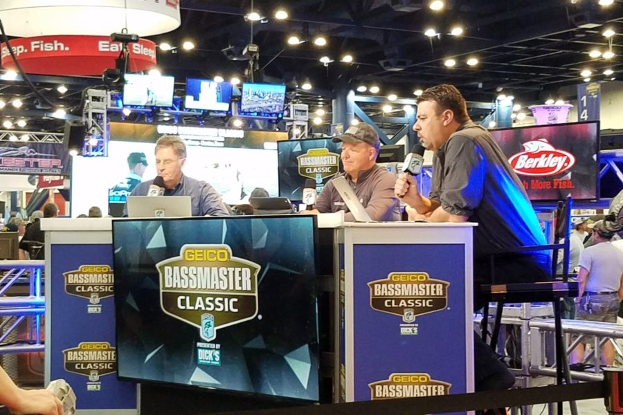 Mark Zona and team running Bassmaster Live at the 2017 Bassmaster Classic