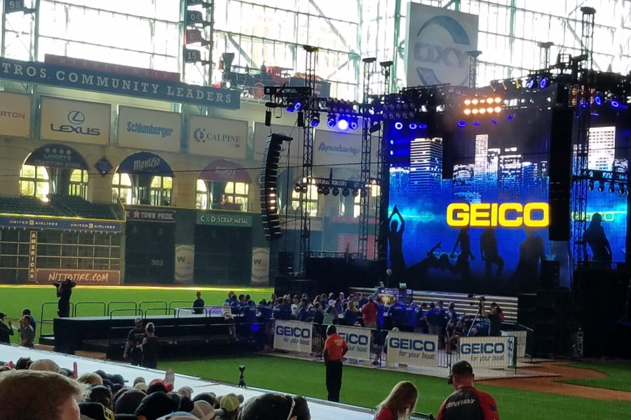 2017 Bassmaster Classic weigh-in at Minute Maid Park, home of the Houston Astros