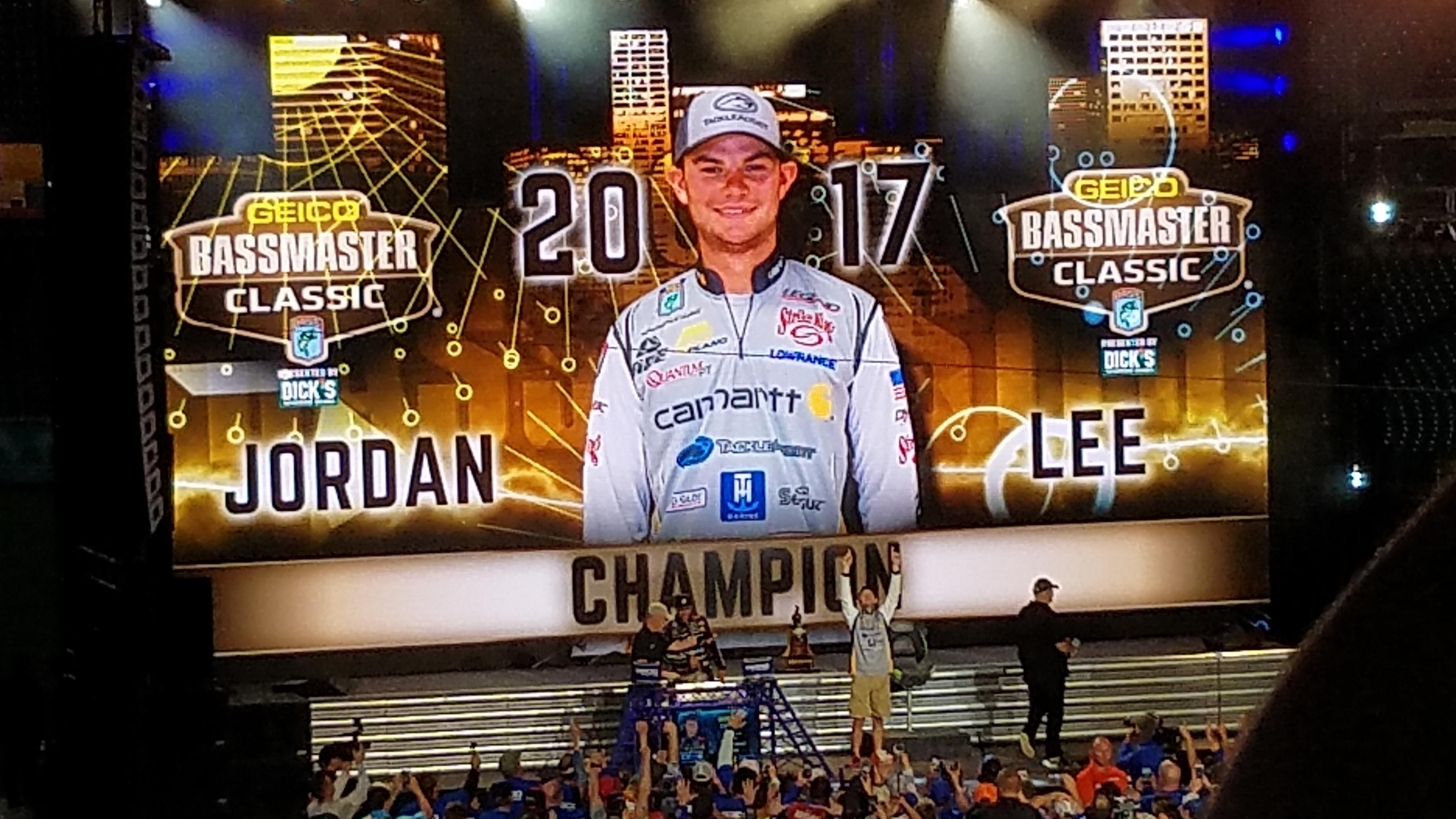Jordan Lee, 2017 GEICO Bassmaster Champion
