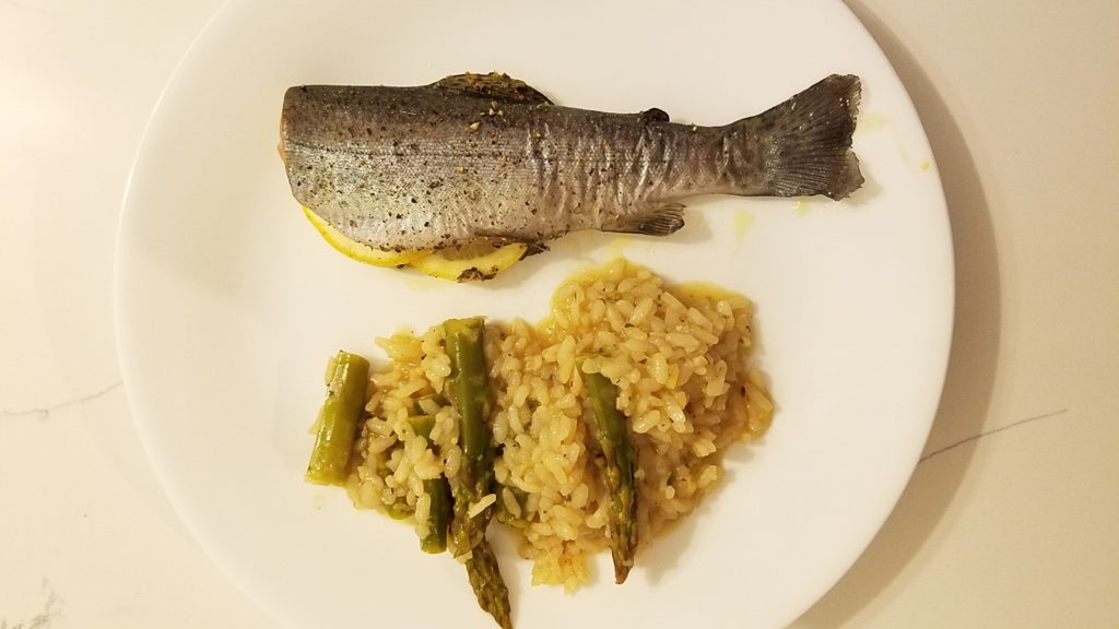 Baked trout with Lemon Risotto | Texas bass angler