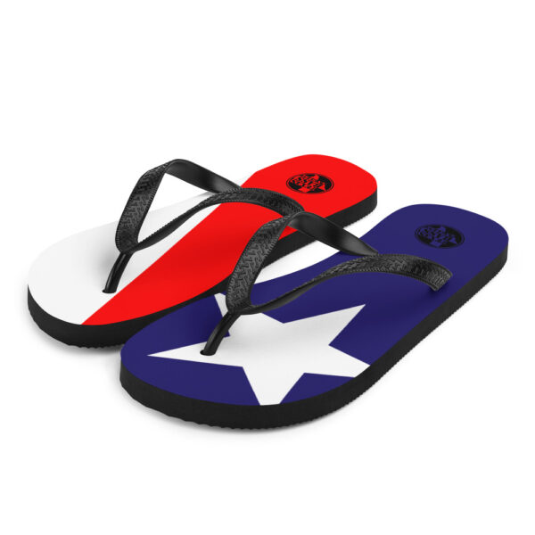 Texas Flag Flip Flops - Texas Bass Angler - Texas Pride - Red, White, and Blue Flip Flops
