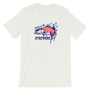 Stars and Stripers - 4th of July Fishing Shirt - Striper Fishing Shirt - Striped Bass Fishing - Texas Bass Angler