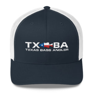 Texas Bass Angler Texas Bass Fishing Logo Snapback Navy Hat