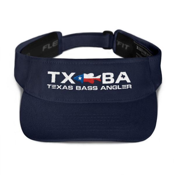 Texas Bass Angler Texas Bass Fishing Logo Visor