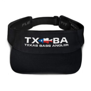 Texas Bass Angler Texas Bass Fishing Logo Visor