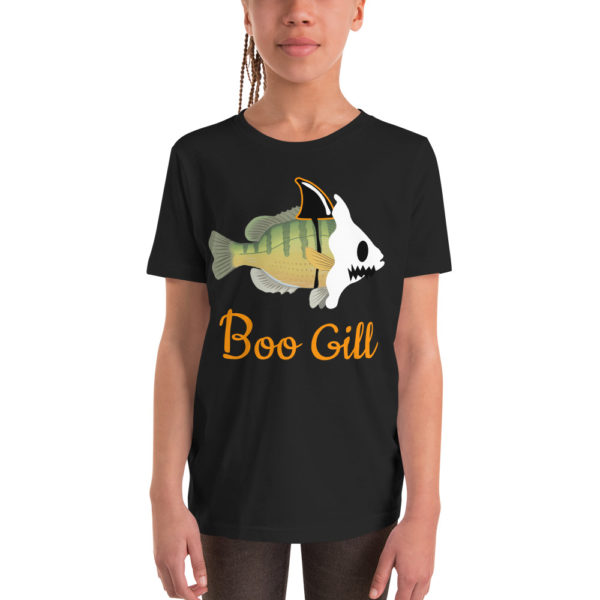 Boo Gill Youth T-shirt Halloween Blue Gill Shirt - Texas Bass Angler