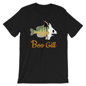 Boo Gill Adult Unisex T-shirt Halloween - Texas Bass Angler