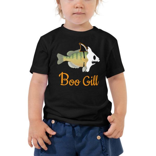 Boo Gill Halloween Toddler Shirt - Texas Bass Angler